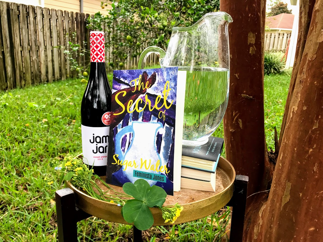 secret of sugar water book with wine and water jug